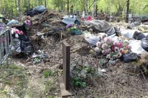 В Дятьково устроили свалку на местном кладбище