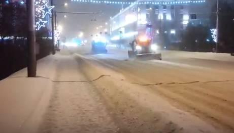 Брянщину за ночь завалило снегом
