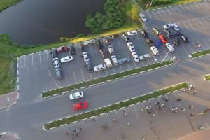 В Дятьково водители выстроили из 95 машин слово «Россия»