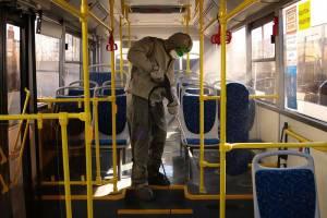 В Брянске проведут дезинфекцию троллейбусного депо