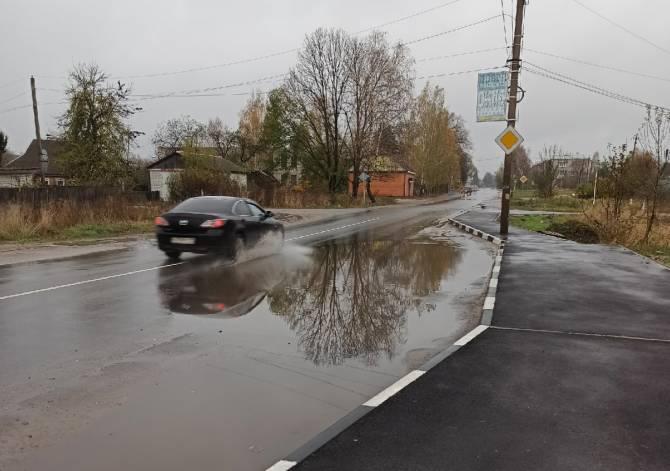 В Дятьково вскрылась большая проблема новой дороги