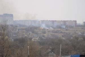 Рядом с брянским «Мегаполис-Парком» произошел крупный пожар