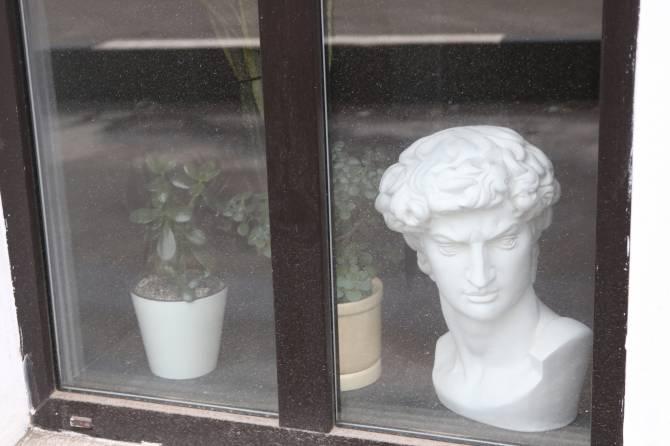 Чиновникам не понравился бюст в окне брянского кафе