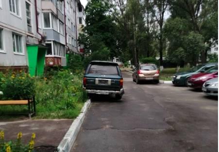 В Брянске на улице Камозина автохам не заметил бордюр