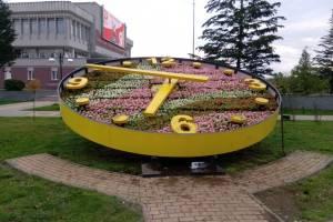 В Брянске на набережной вновь появились цветочные часы