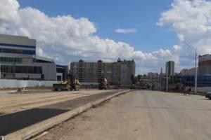 В Брянске на улице Объездной построили тротуар возле Дворца единоборств