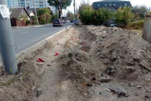 В Брянске пешеходов вынудили преодолевать полосу препятствий