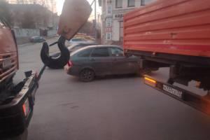 В Брянске оказалась заблокирована дорожниками улица Калинина