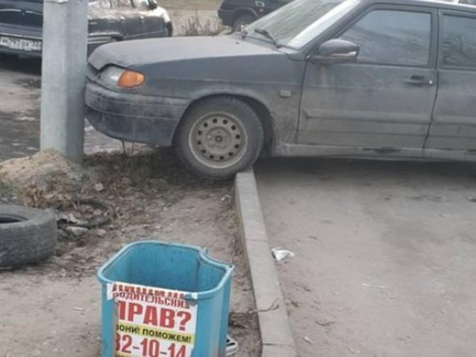 В Брянске водитель ВАЗ-2109 поцеловал столб