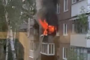 В Брянске смертельный пожар на проспекте Ленина сняли на видео