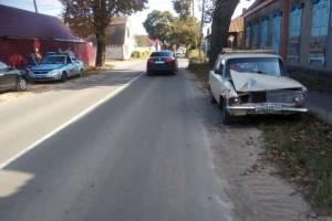 В Клинцах на аварийном перекрестке не разъехались две легковушки
