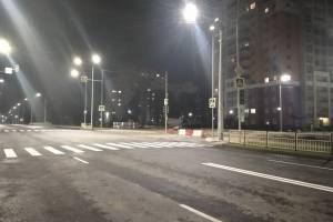В Брянске включили освещение на новой дороге по Советской