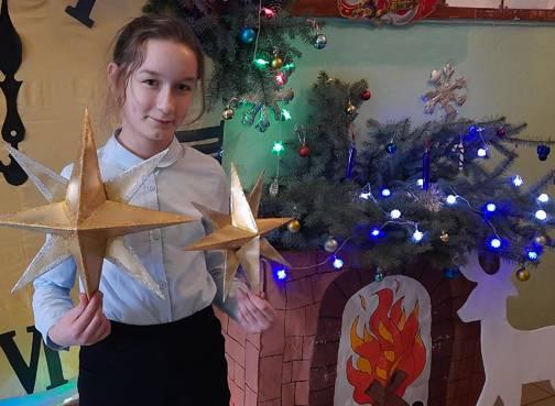 Брянские школьники изготовили Вифлеемскую звезду