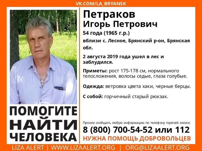 В Брянской области погиб заблудившийся в лесу 54-летний Игорь Петраков