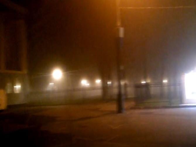 Утонувший в тумане Майский парк в Брянске сняли на видео