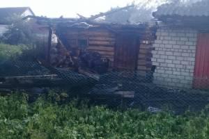 В Трубчевске сгорела баня