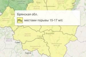 На Брянщине снова продлили желтый уровень опасности