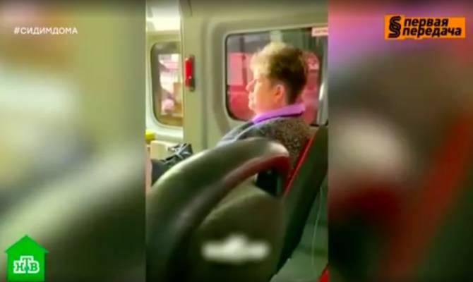 Показали на федеральном канале женщину без маски в брянской маршрутке