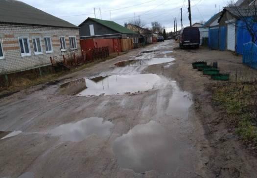 Брянцы пожаловались на разбитую дорогу в селе Займище