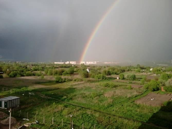 В Брянске радуга выросла на месте ТРЦ «Аэропарк»
