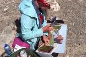 Юные брянские художники приняли участие в международном пленэре в Крыму