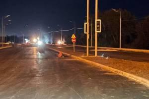 В Брянске начали укреплять склоны насыпи новой дороги-дамбы