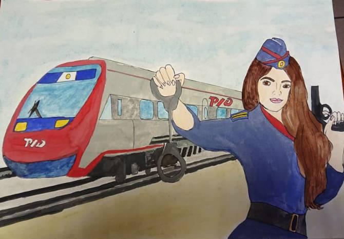 Брянские полицейские на транспорте провели конкурс рисунков