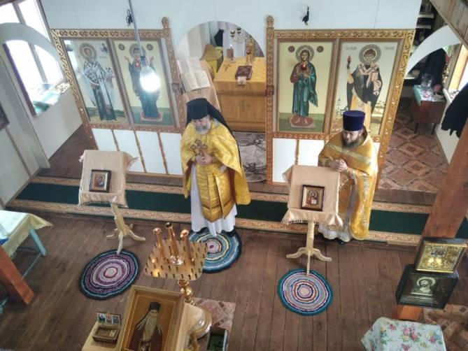 В брянском селе Хинель новый храм отметил первое престольное торжество