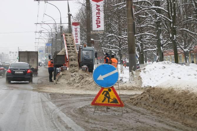 С дорог Брянска ночью исчезли 500 тонн снега