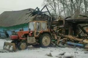 В брянском поселке Локоть снесли старую школу №2