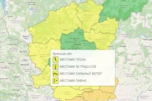 На Брянщине продлили желтый уровень погодной опасности