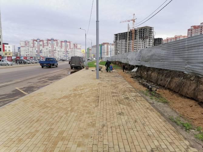 В Брянске ликвидируют провал на улице Горбатова