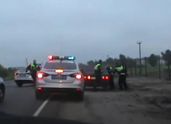 В Брянске сняли на видео полицейскую погоню за пьяным рецидивистом