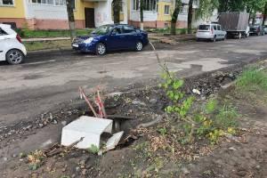 В Брянске водителей предупредили о провале на улице Медведева