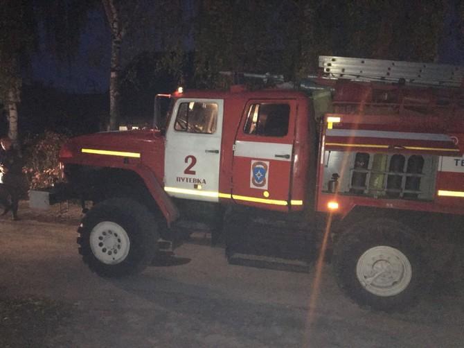 В Путевке под Брянском потушили пожар