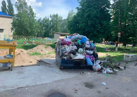 В Брянске жители улицы Шолохова пожаловались на вонючую кучу