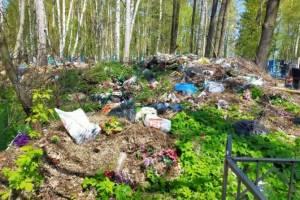 В Брянске потребовали убрать свалки на кладбищах