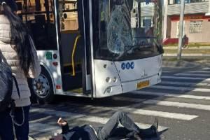 В Брянске автобус сбил на переходе мужчину