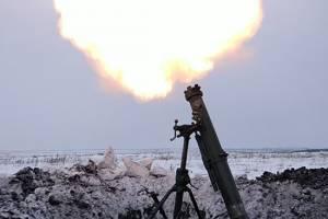Брянские артиллеристы устроили стрельбу из миномётов