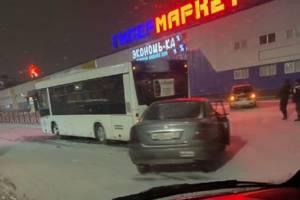 В Брянске автобус попал в ДТП возле гипермаркета «2х2»