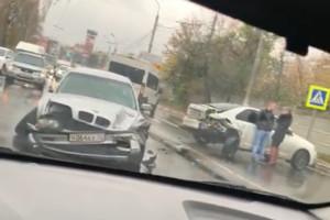 В Брянске из-за аварии у Городищенской горки образовалась пробка