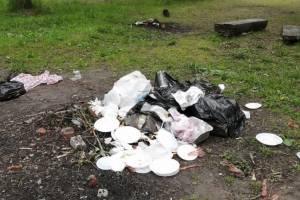 Под Брянском убрали мусор за отдыхающими