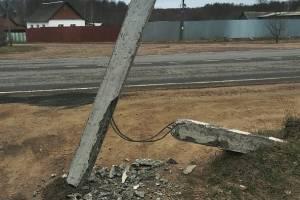 Жители Клинцов потребовали убрать аварийный столб
