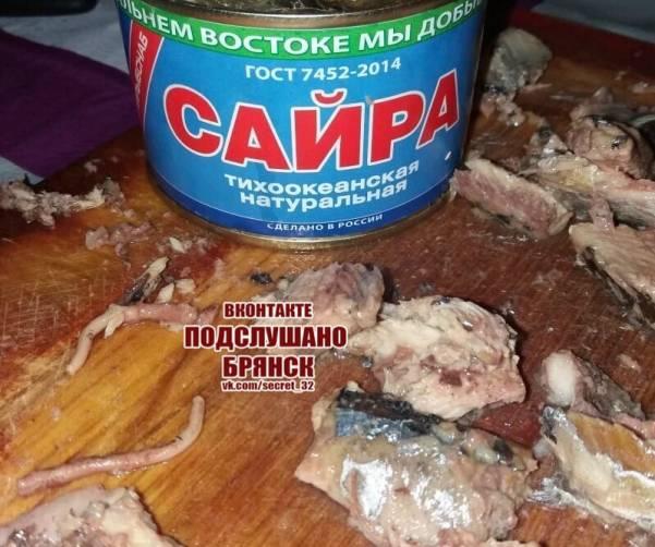 Брянцев напугала рыба из магазина «Светофор»