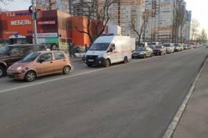 В Брянске на выезде из Володарки образовалась гигантская пробка