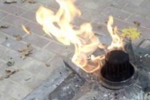 В Погаре школьники решили пожарить пельмени у Вечного огня
