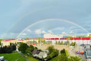 Жителей Брянска порадовала двойная радуга