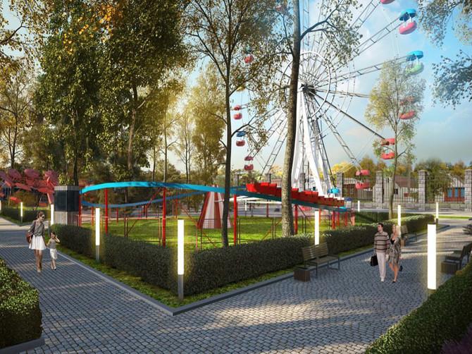 В парке Новозыбкова продолжается ремонт