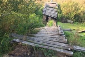 Жители Клинцов пожаловались на разрушенный мост