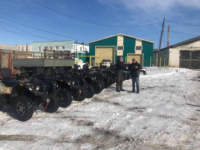Снегоболотоходы жуковского завода доставили в холодную Якутию